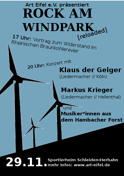 Rock am Windpark Herhahn