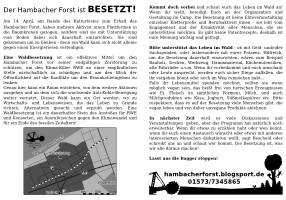 flyer selber machen hambacher forst. Black Bedroom Furniture Sets. Home Design Ideas