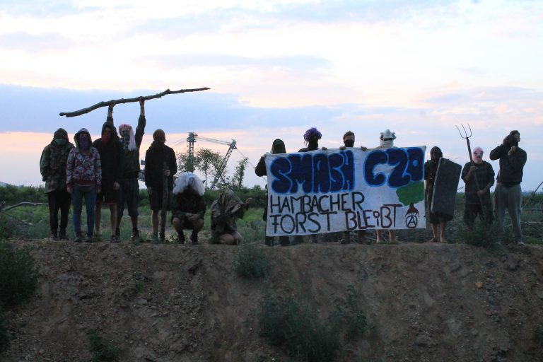 Blockade of the Hambach Railroad by Hambach Forest Activists