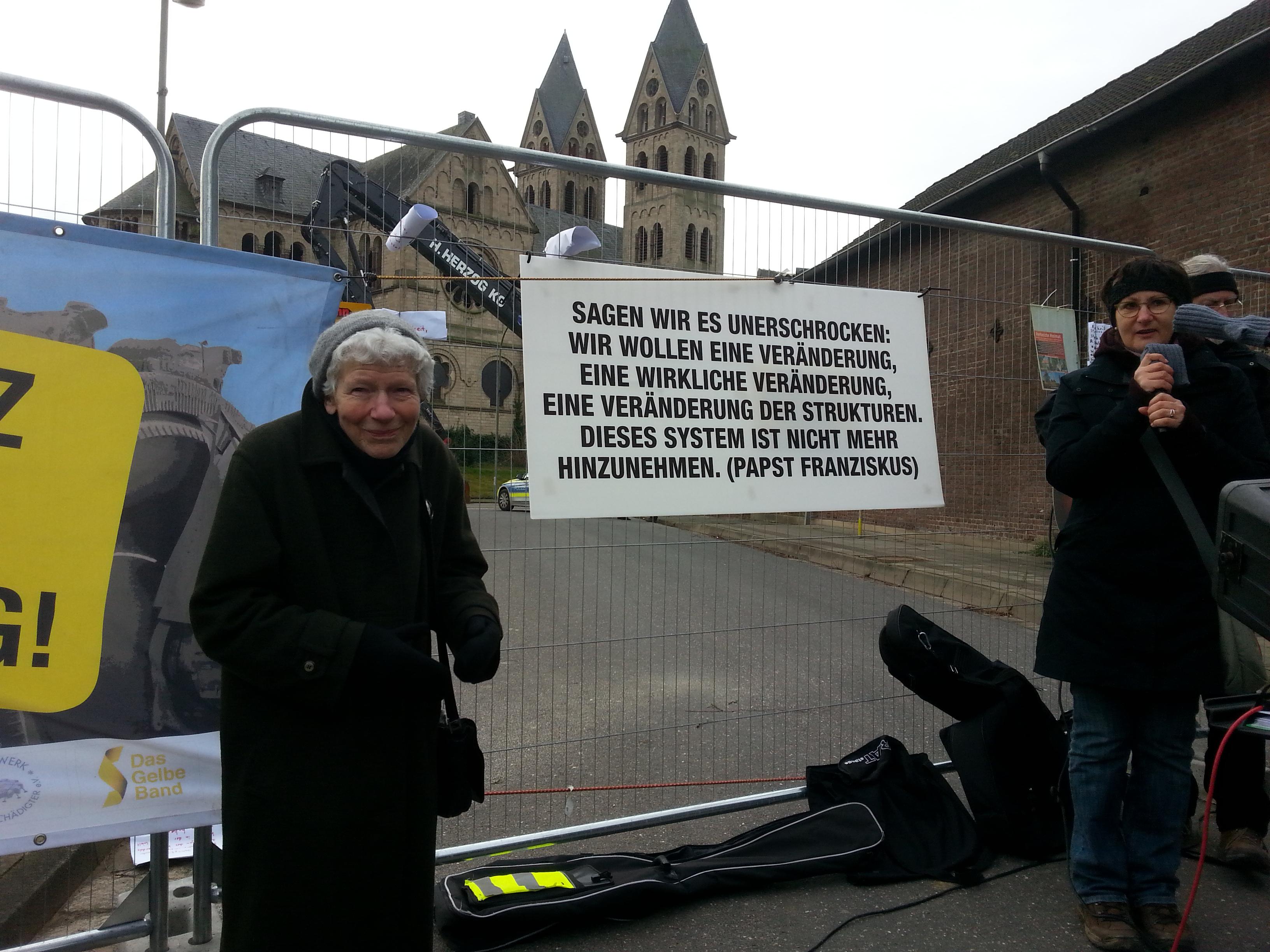 Prière politique à Immerath, 7 Jan. 2018