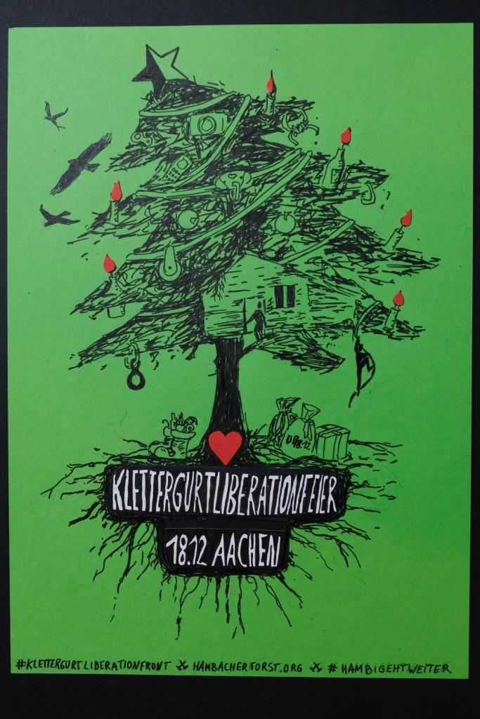 Einladung zur Klettergurt Liberation Feier: 18.12 Aachen
