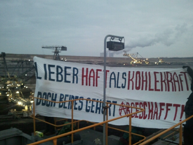 Baggerbesetzung, Leipziger Land, Schleenhain 20.02.2019