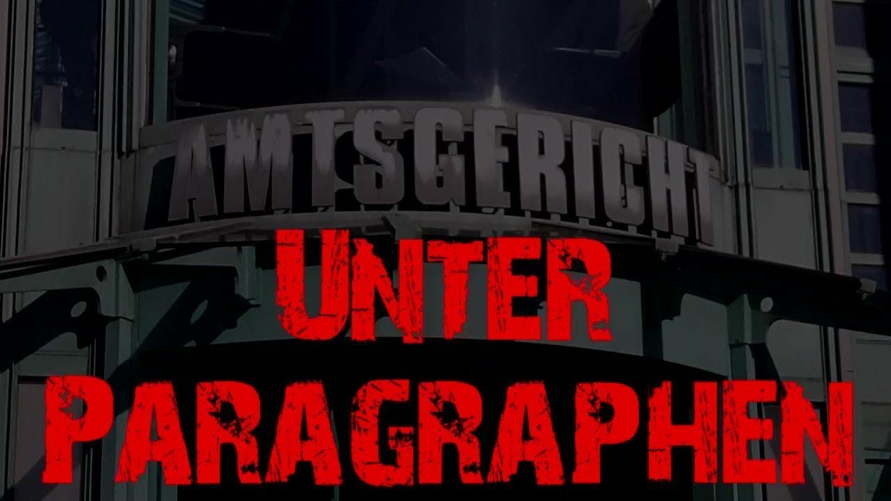 Filmplakat mit der Aufschrift: Amtsgericht - Unter Paragraphen